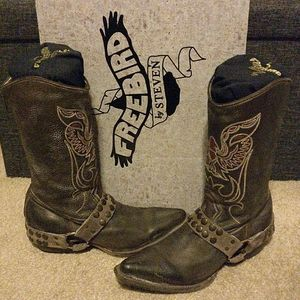 Freebird by Steven ranch brown cowgirl boots